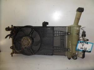 Lancia Y 2003-2011 1.4cc βενζίνη ψυγείο κομπλέ (νερού-aircondition-βεντιλατέρ)