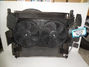 Mercedes Ml w163 1998-2005 4.2cc βενζίνη ψυγείο κομπλέ (νερού automatic-air condition-βεντιλατέρ)