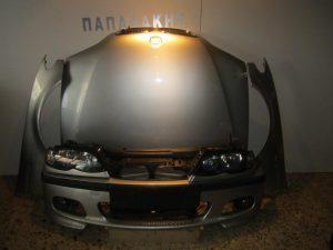 Bmw E46 4θυρο m-pac Lift Series 3 2003-2005 μετώπη-μούρη εμπρός ασημί: καπό- 2 φτερά- μετώπη- προφυλακτήρας- 2 φανάρια