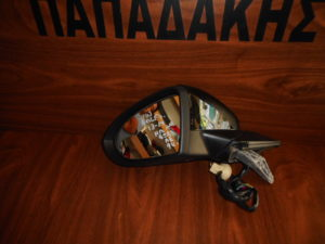 VW Golf 7 2013-2019 ηλεκτρικά ανακλινόμενος καθρέπτης αριστερός μαύρος 9 καλώδια φως ασφαλείας