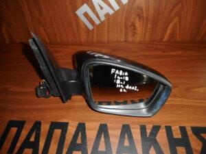 Skoda Fabia 2014-2020 ηλεκτρικός καθρέπτης δεξιός μαύρος 6 καλώδια φλας