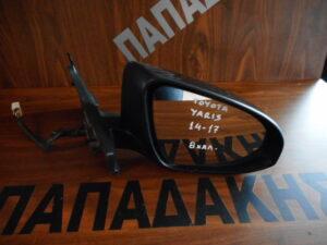 Toyota Yaris 2014-2017 ηλεκτρικός καθρέπτης δεξιός μαύρος 8 καλώδια