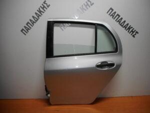 Toyota Yaris 2006-2011 πίσω αριστερή πόρτα ασημί
