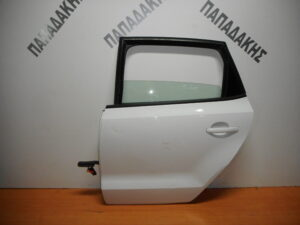 VW Polo 2009-2017 πίσω αριστερή πόρτα άσπρη