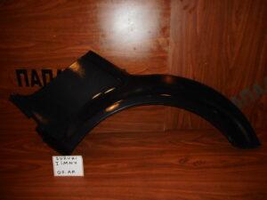 Suzuki Jimny 1998-2012 πίσω αριστερό φρύδι φτερού μαύρο